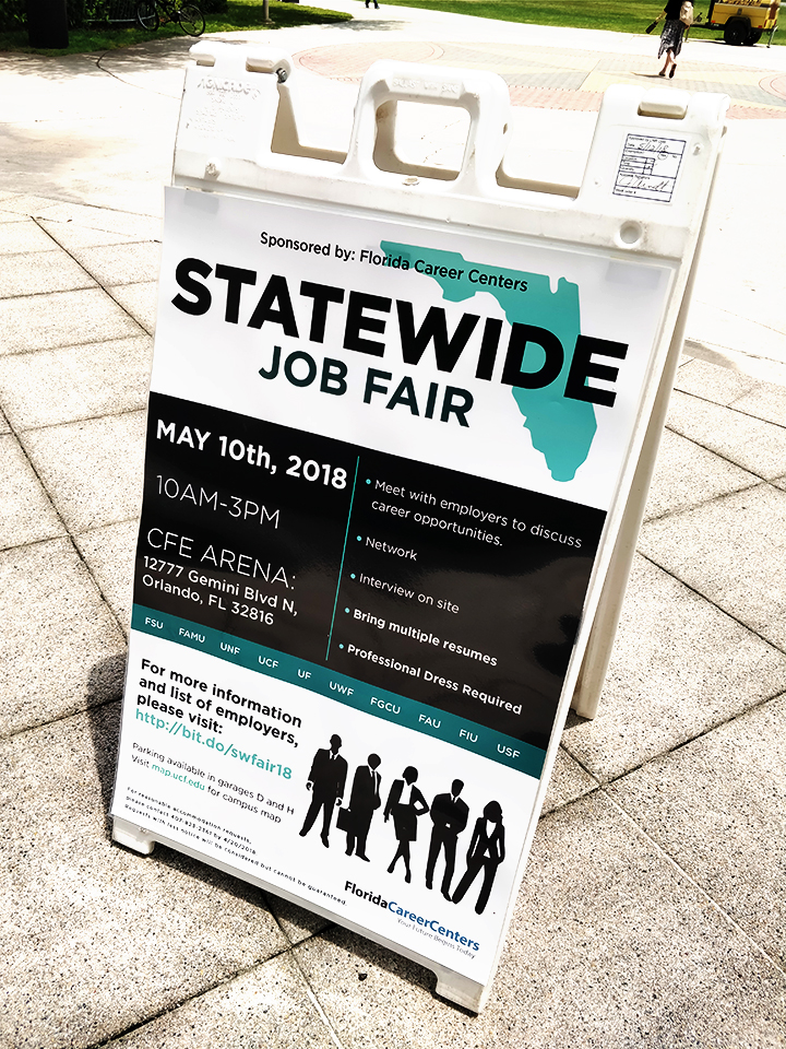 ucf statewide job fair poster