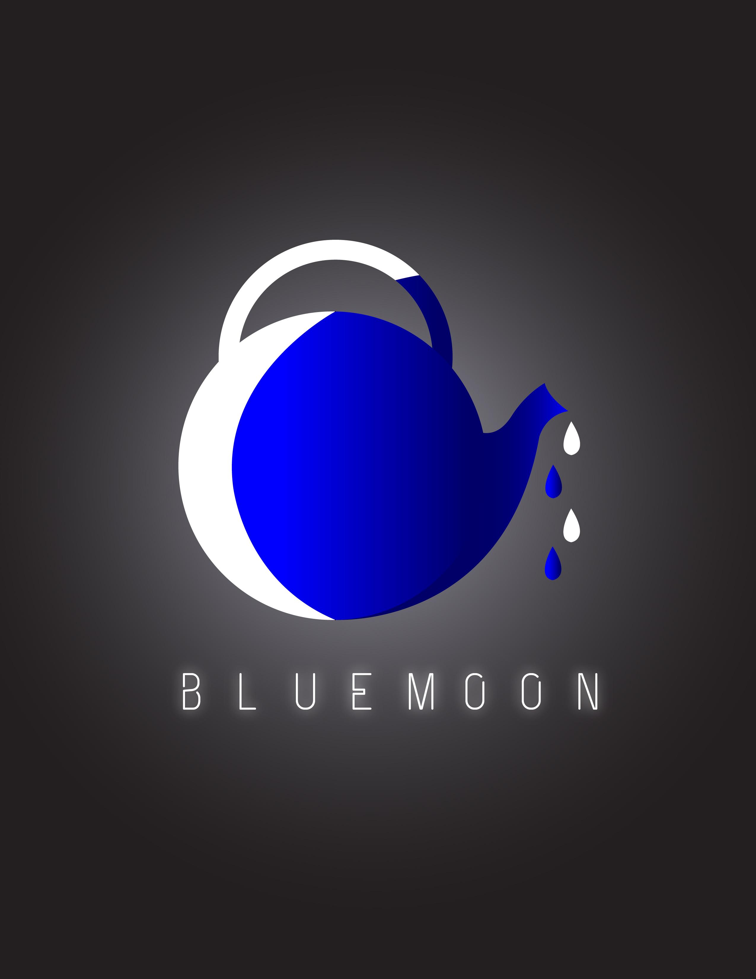 blue moon logo tea concept