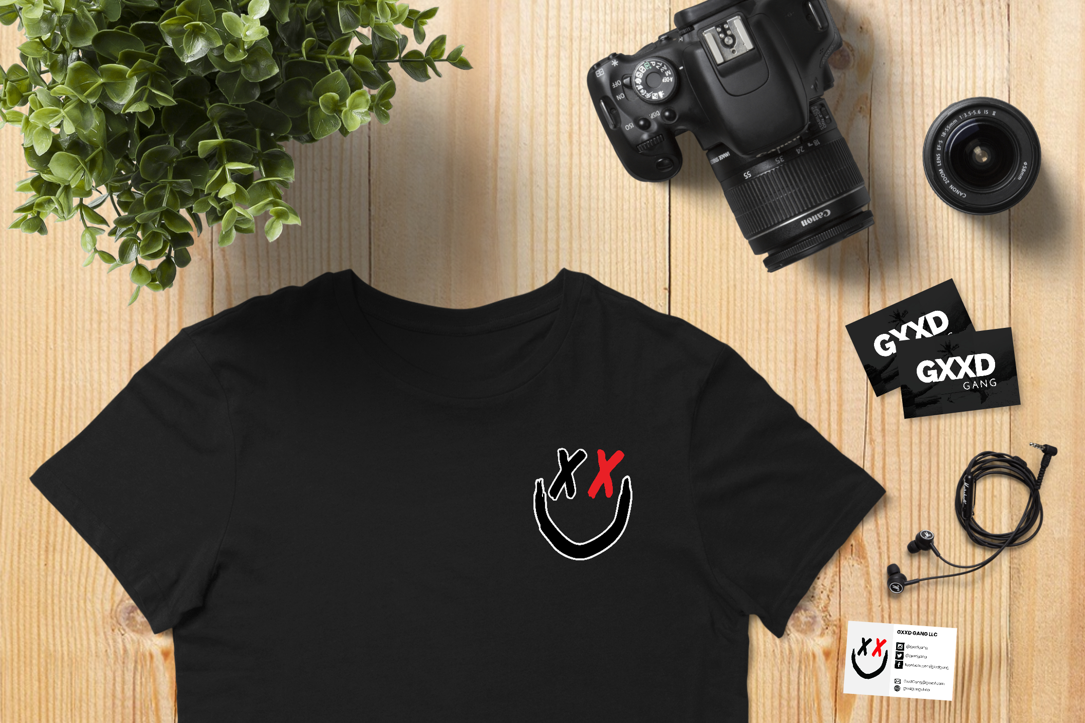 tshirt business card mockup