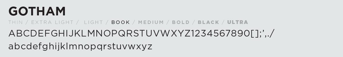gotham fonts
