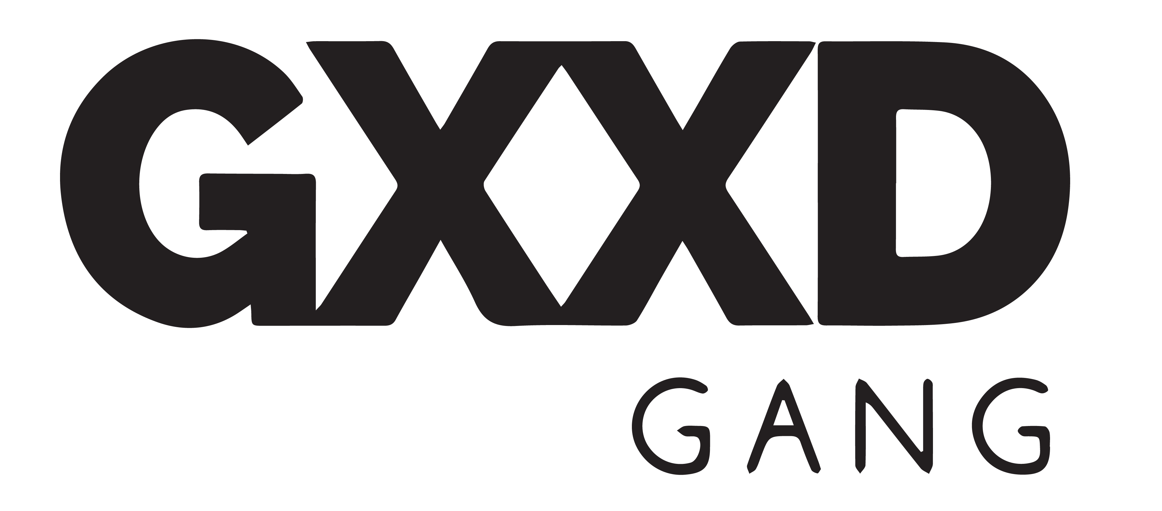 gxxd gang text logo