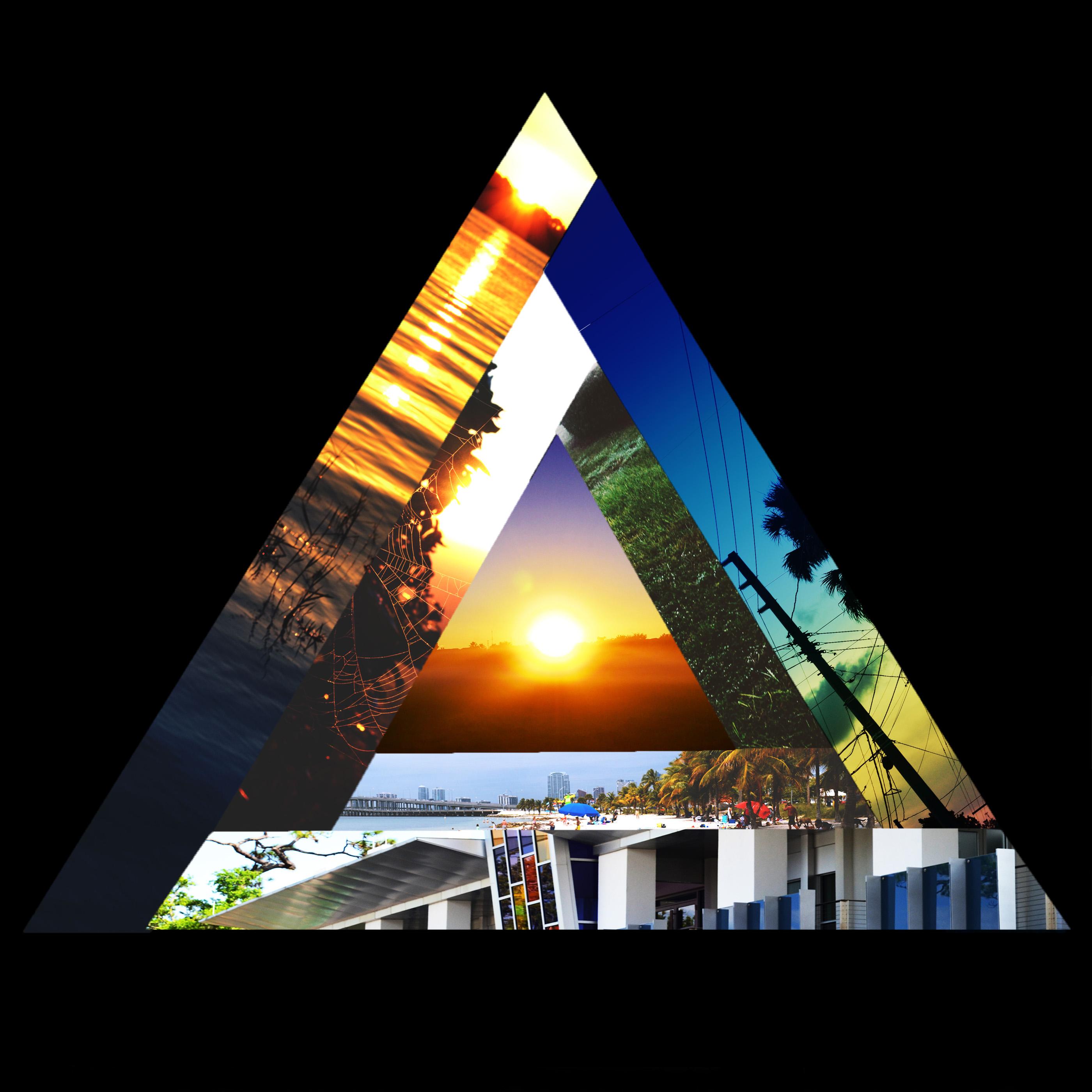 album art concept triangle