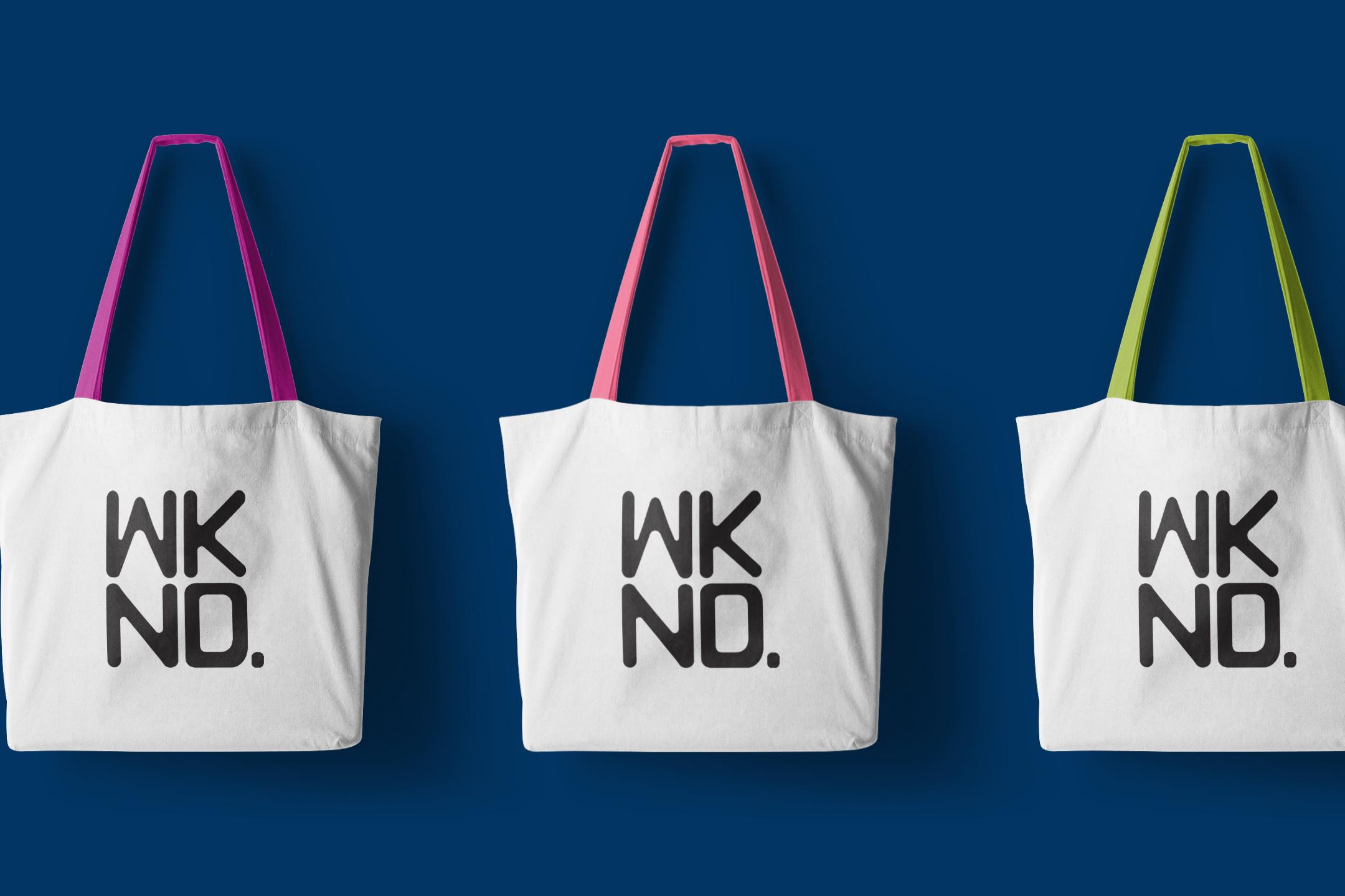 wknd bag logo mockup