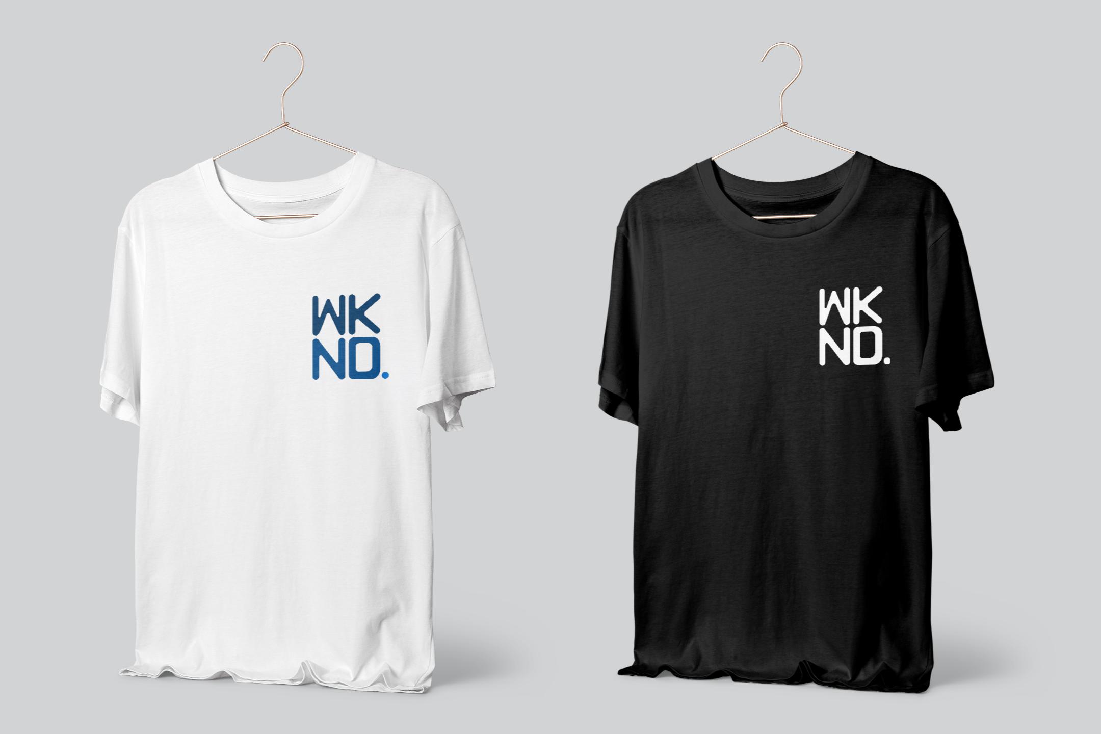 wknd tshirt logo mockup