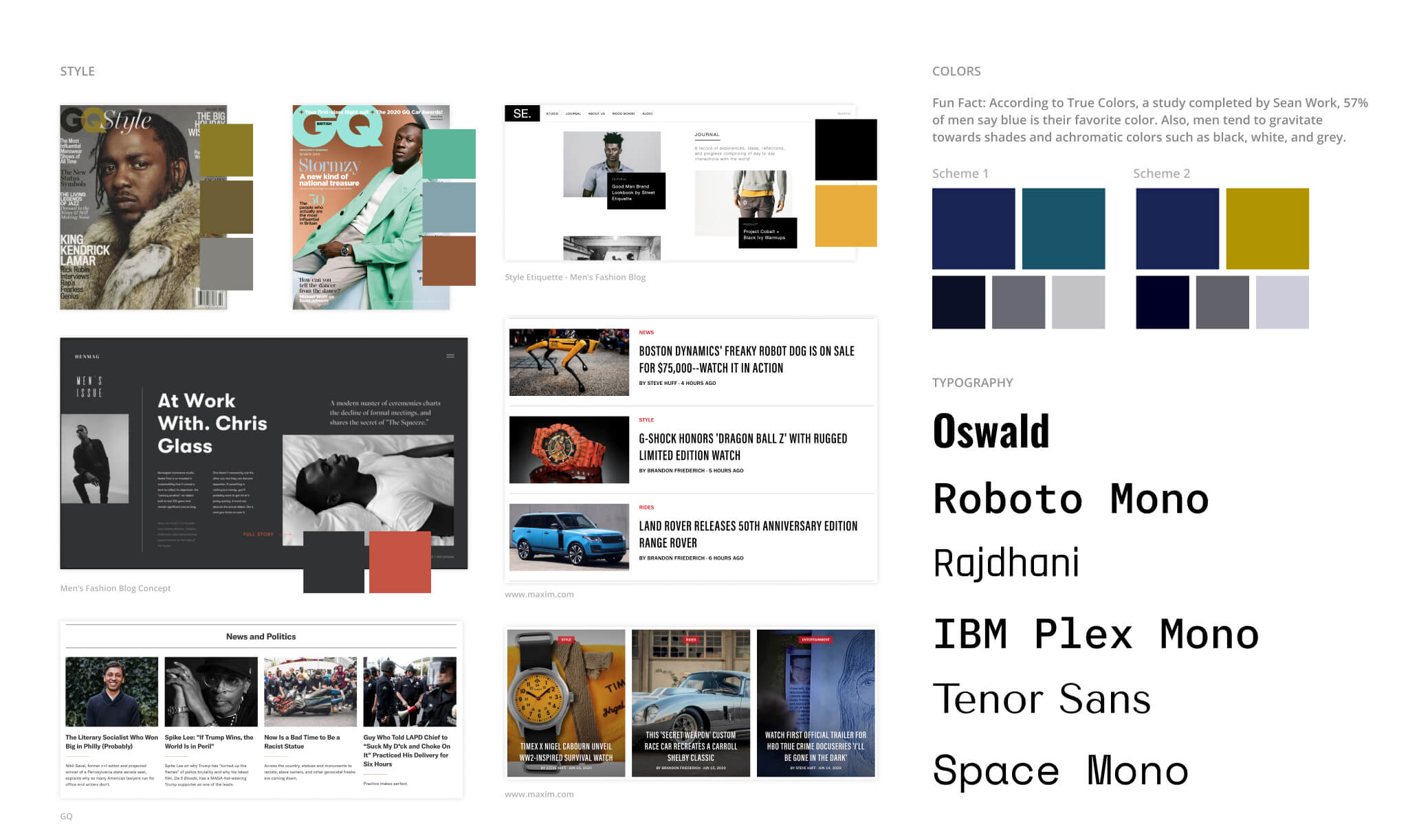 Moodboard for The Soul Within Branding project