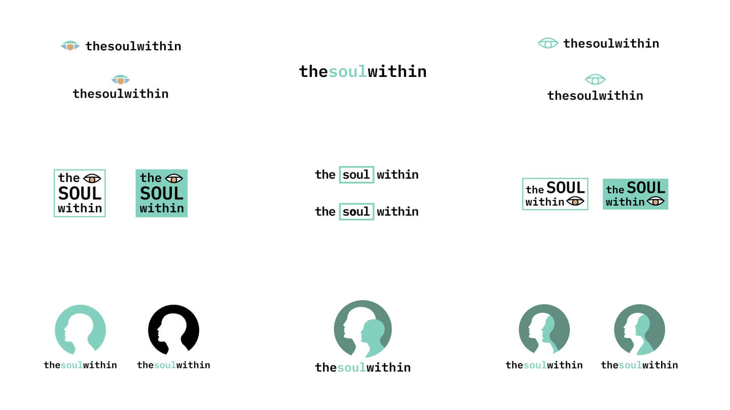 Initial concepts for The Soul Within logo