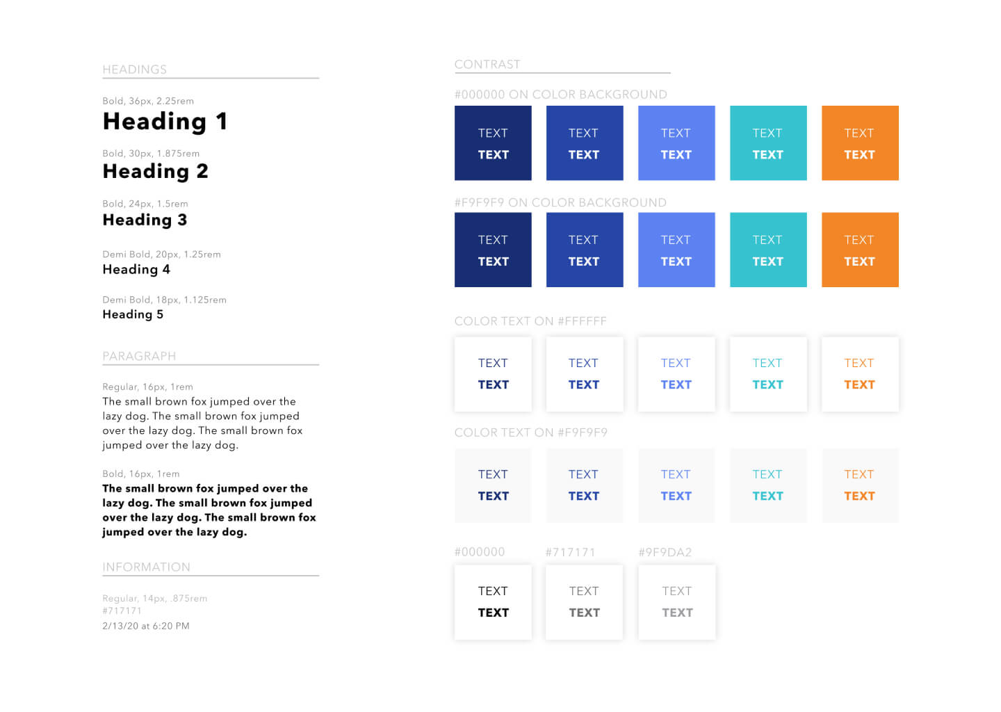Knight Hacks Design System fonts, colors, and contrast guidelines