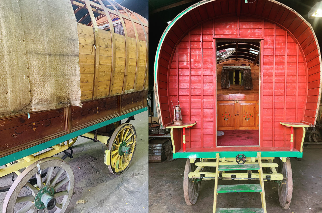Our Stylish Gypsy Caravan is on it's way!