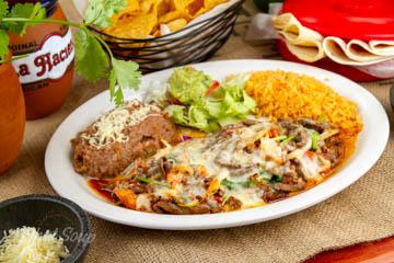 La Hacienda Mexican Restaurant Brochetas de Camaron