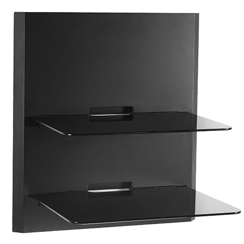 OmniMount OBWF2 Double Glass Low Profile Wall Shelf
