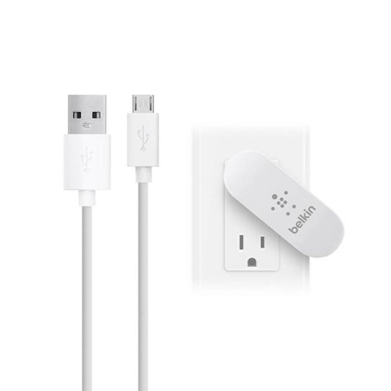 Belkin 2-Port Swivel Home Charger with 4' MicroUSB Cable