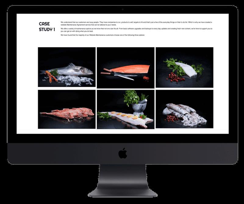 Portfolio Site showing clients goods