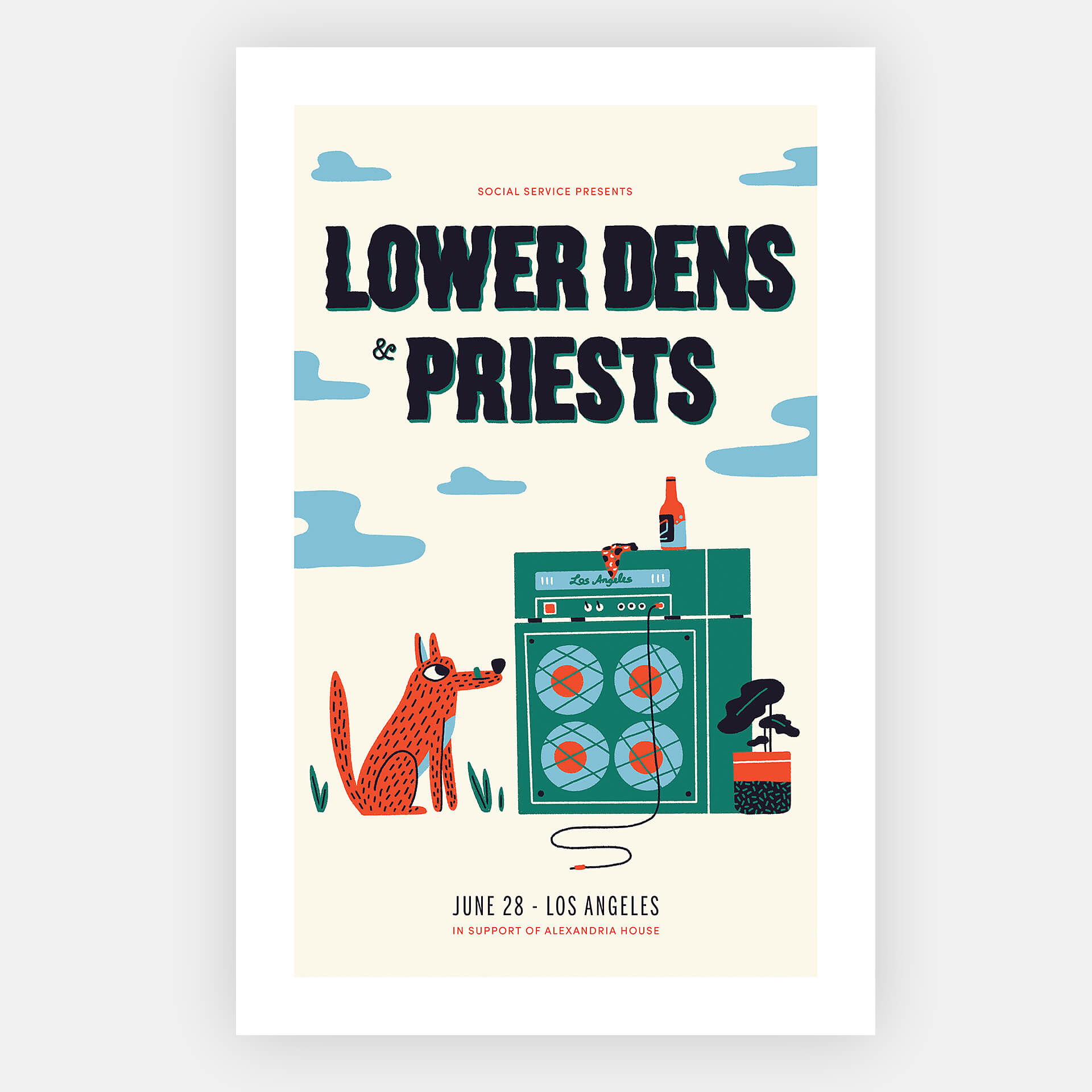 Lower Dens & Priests Show Poster