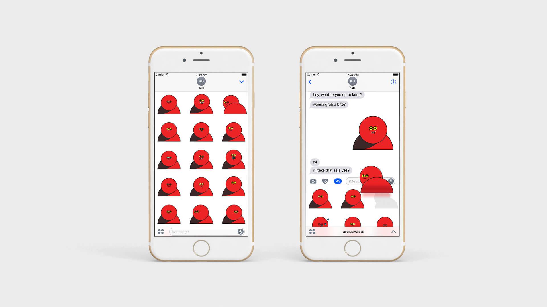 Splendid Weirdos Apple iPhone iOS messages animated sticker pack