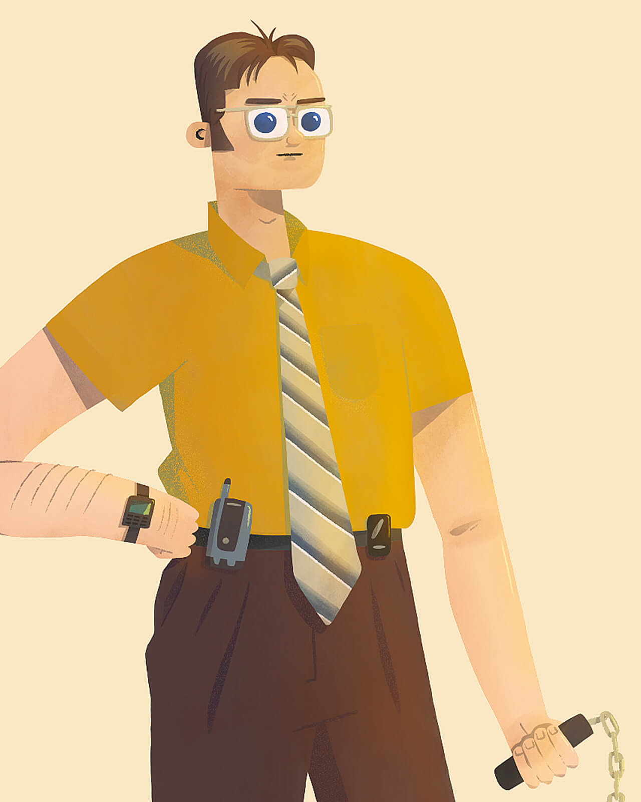 Illustrated portrait of Dwight Schrute