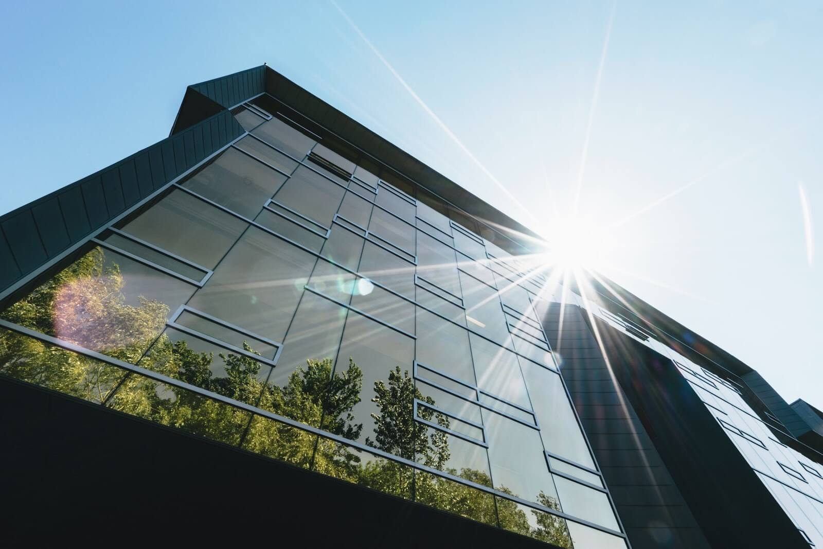 Smart glass reduces the use of air conditioning and space heating in buildings.