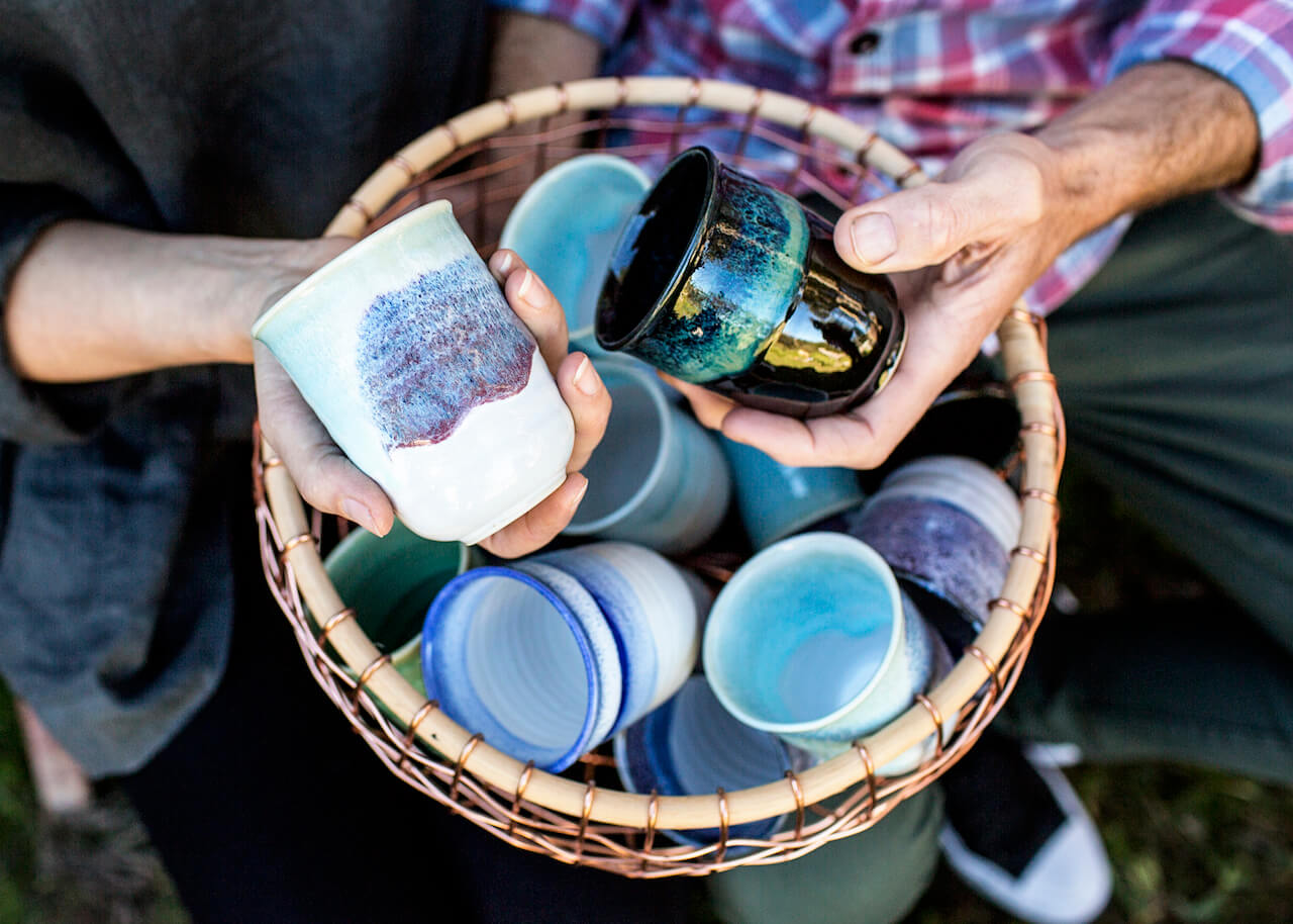 Beautiful clay pottery from Renton and Clare's Pottery for the Planet