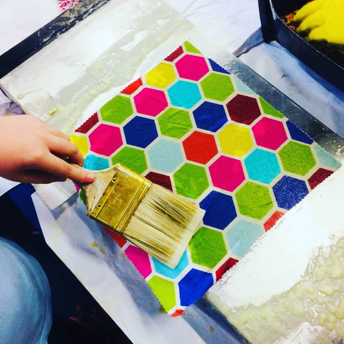 Colorful beeswax wrap