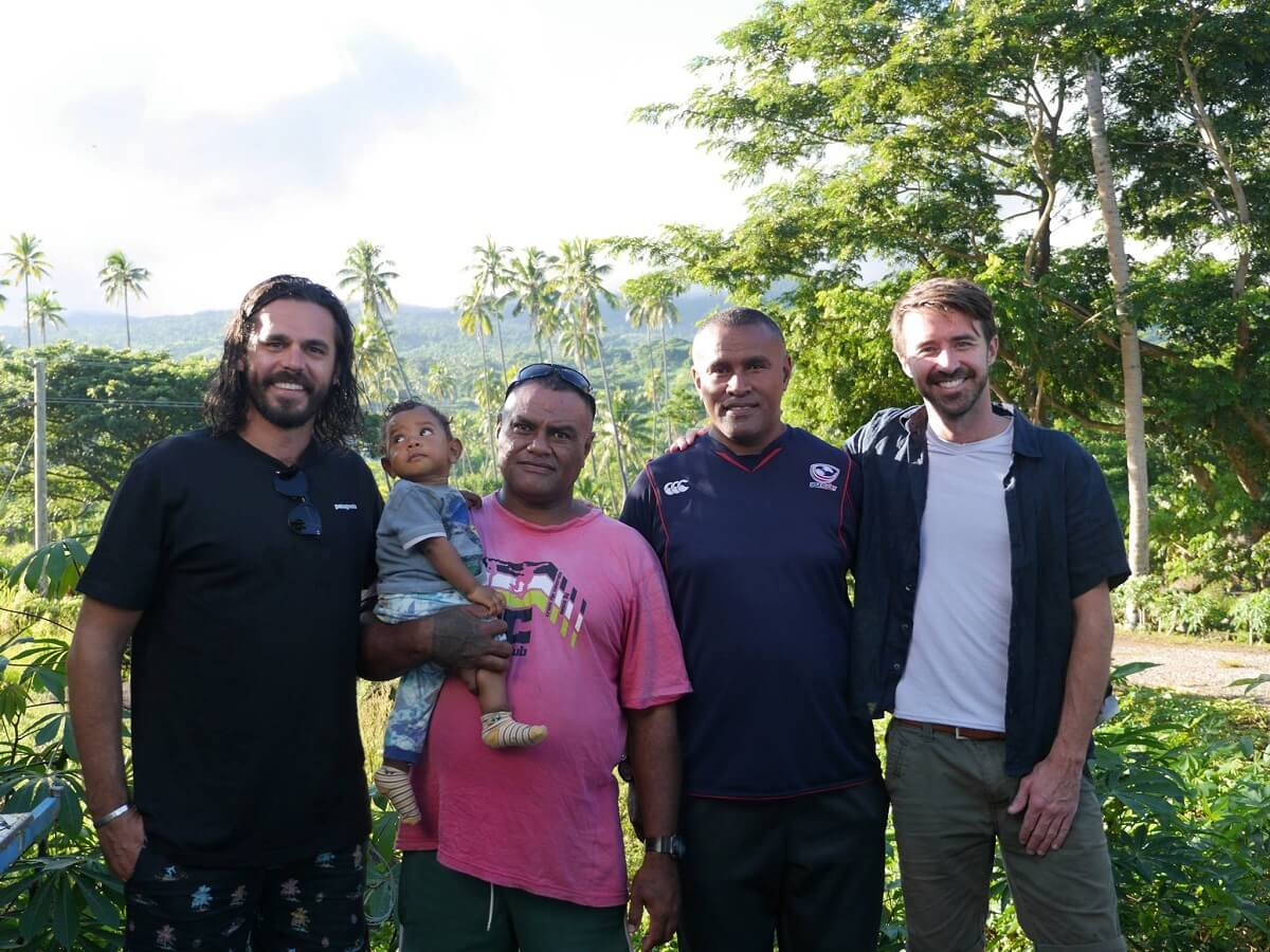 Image of our climates team on the ground working with our neighbours in the pacific