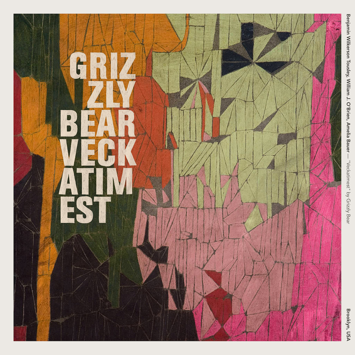 "Benjamin Wilkerson Tousley, William J. O'Brien, Amelia Bauer — Veckatimest"" by Grizzly Bear"""