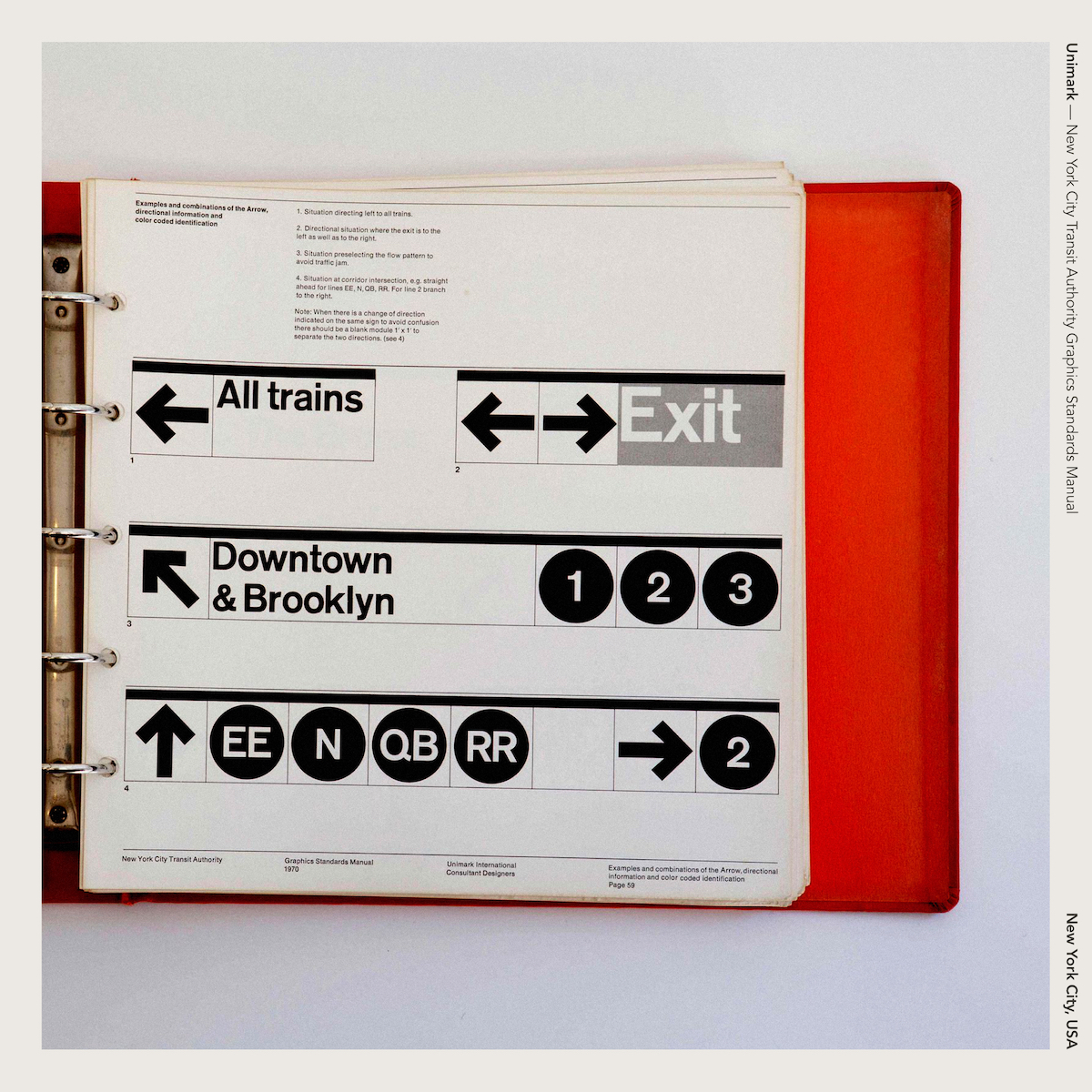 Unimark — New York City Transit Authority Graphics Standards Manual