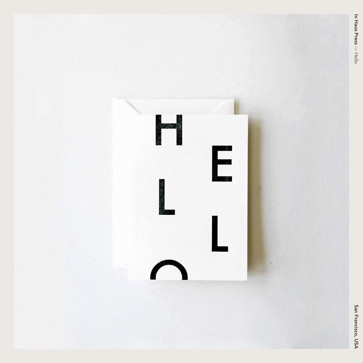 In Haus Press —Hello