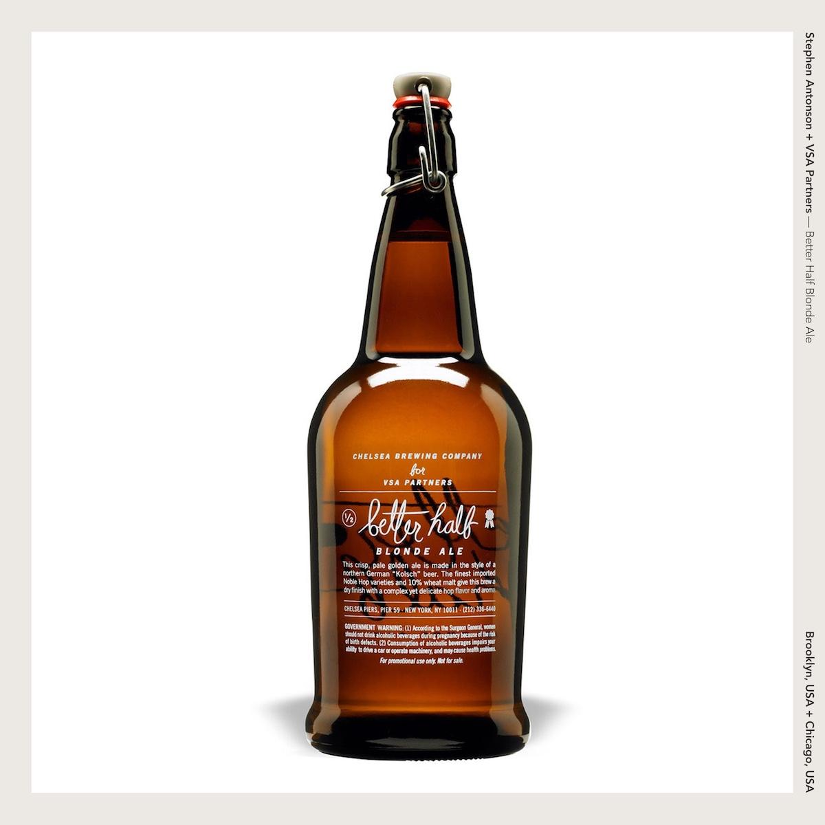 Stephen Antonson + VSA Partners —Better Half Blonde Ale