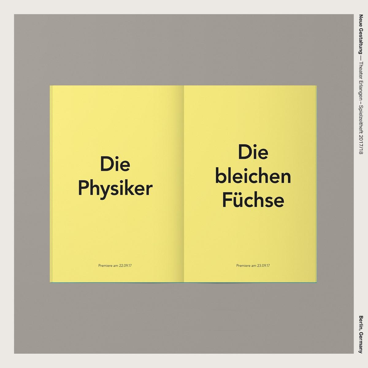 Neue Gestaltung — Theater Erlangen – Spielzeitheft 2017/18