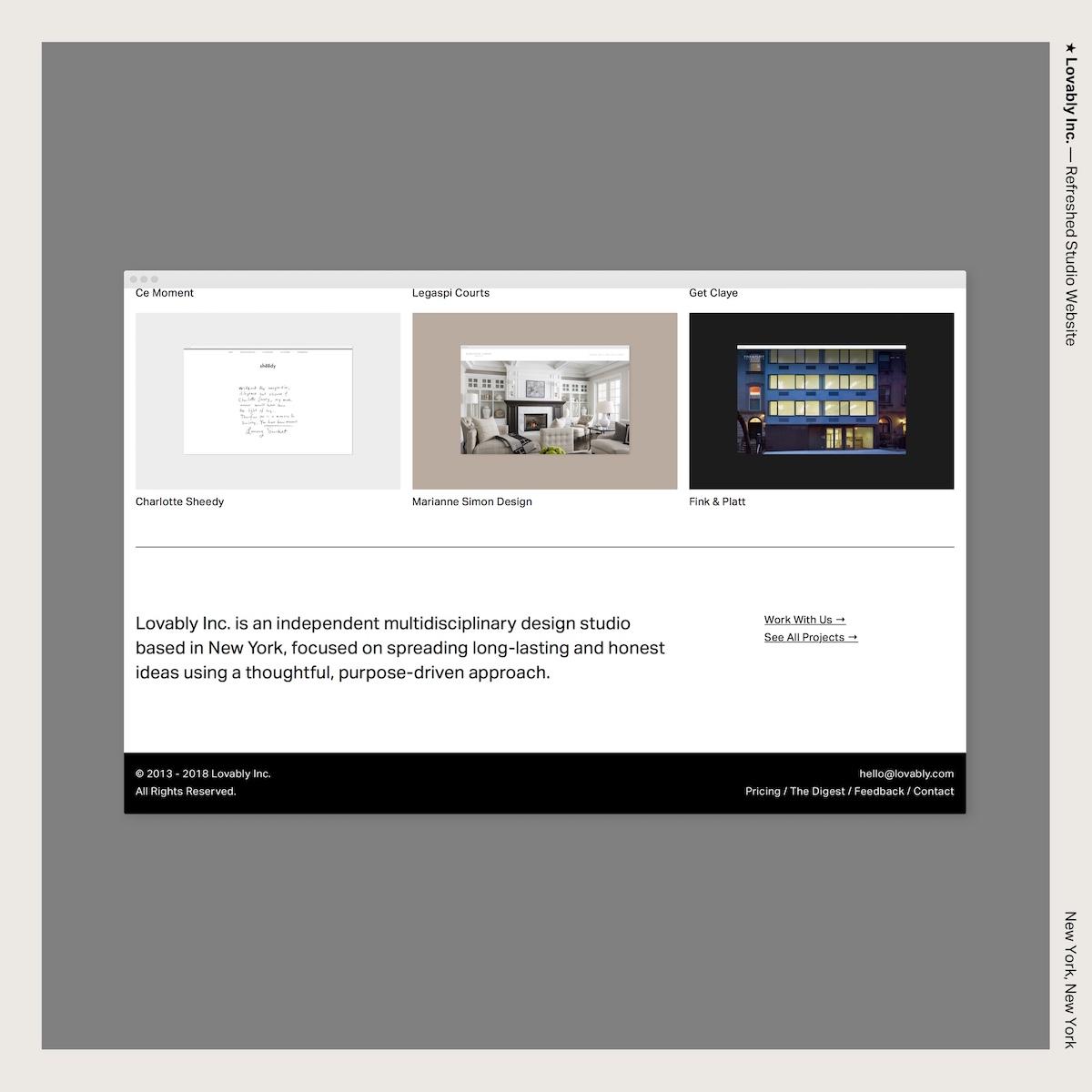 ★ Lovably Inc. — Refreshed Studio Website