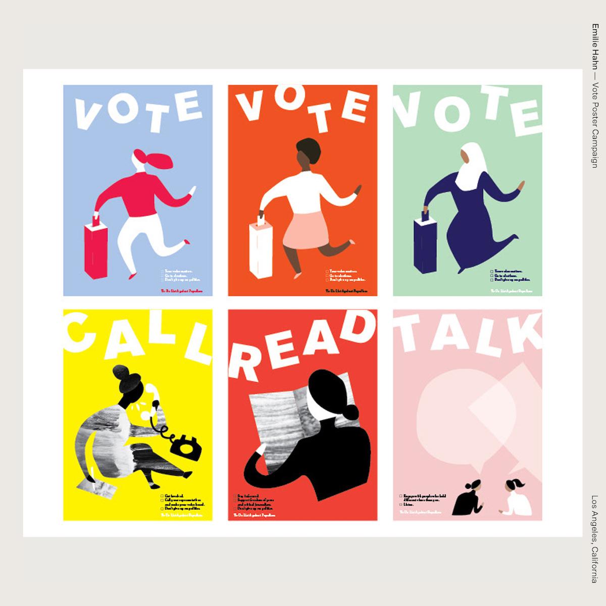 Emilie Hahn —Vote Poster Campaign