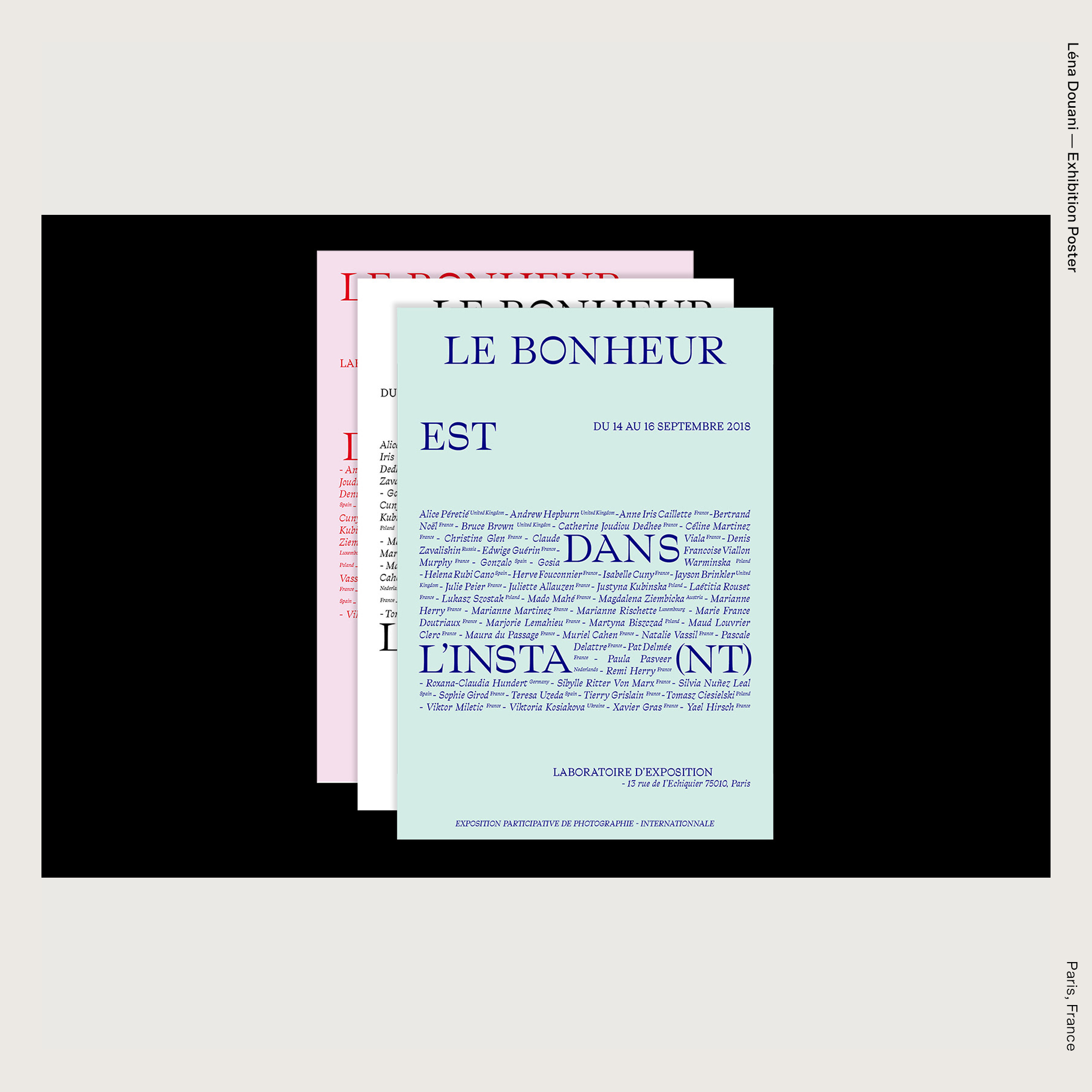 Léna Douani — Exhibition Poster