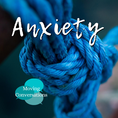A tight rope with the word Anxiety placed on top of the image