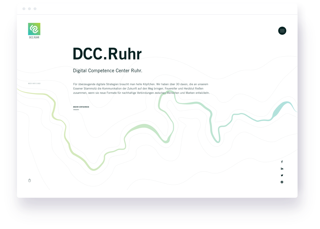DCC Ruhr Website