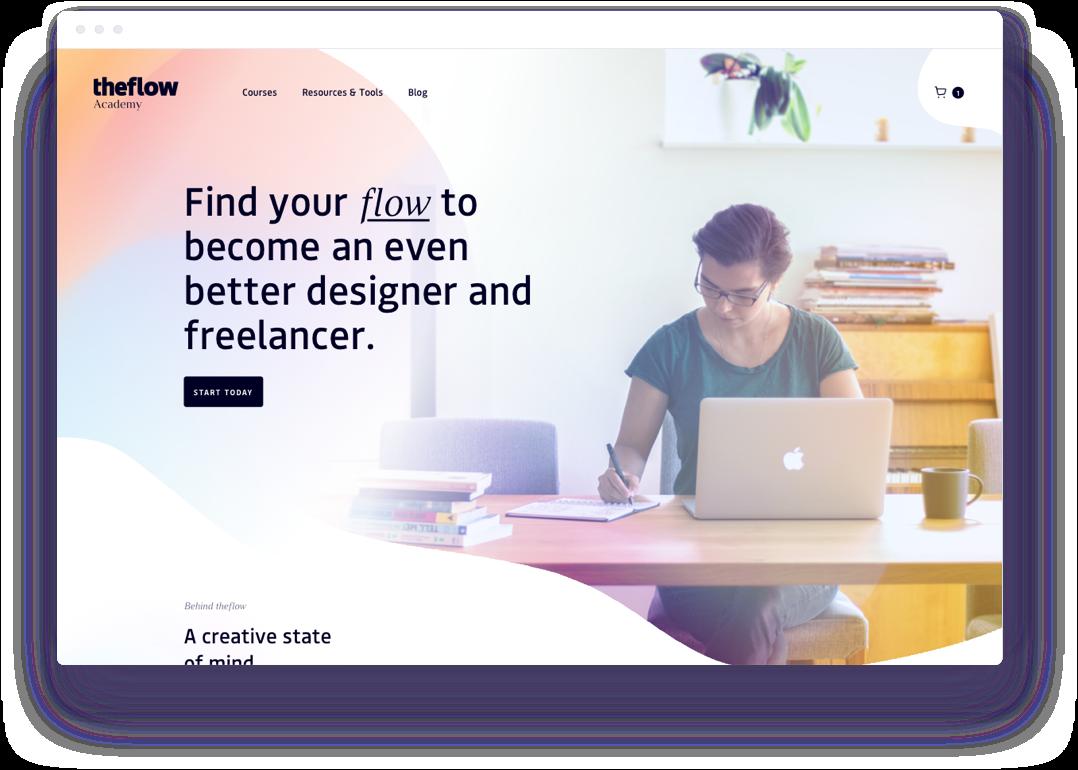 theflow Academy Website