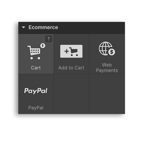 Webflow Interface Ecommerce Components