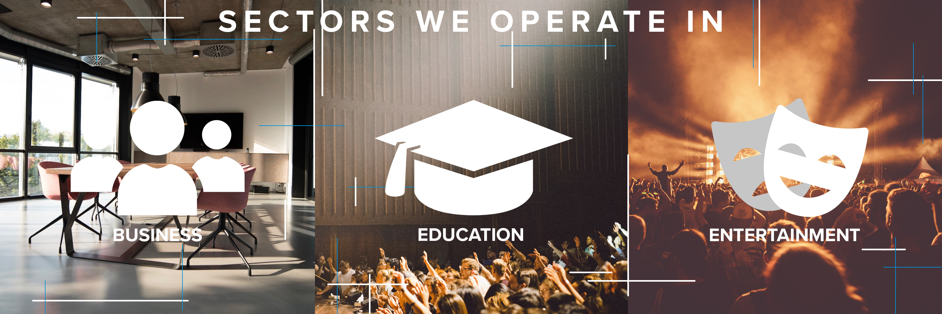 R&W Sectors we operate in, business education and entertainment