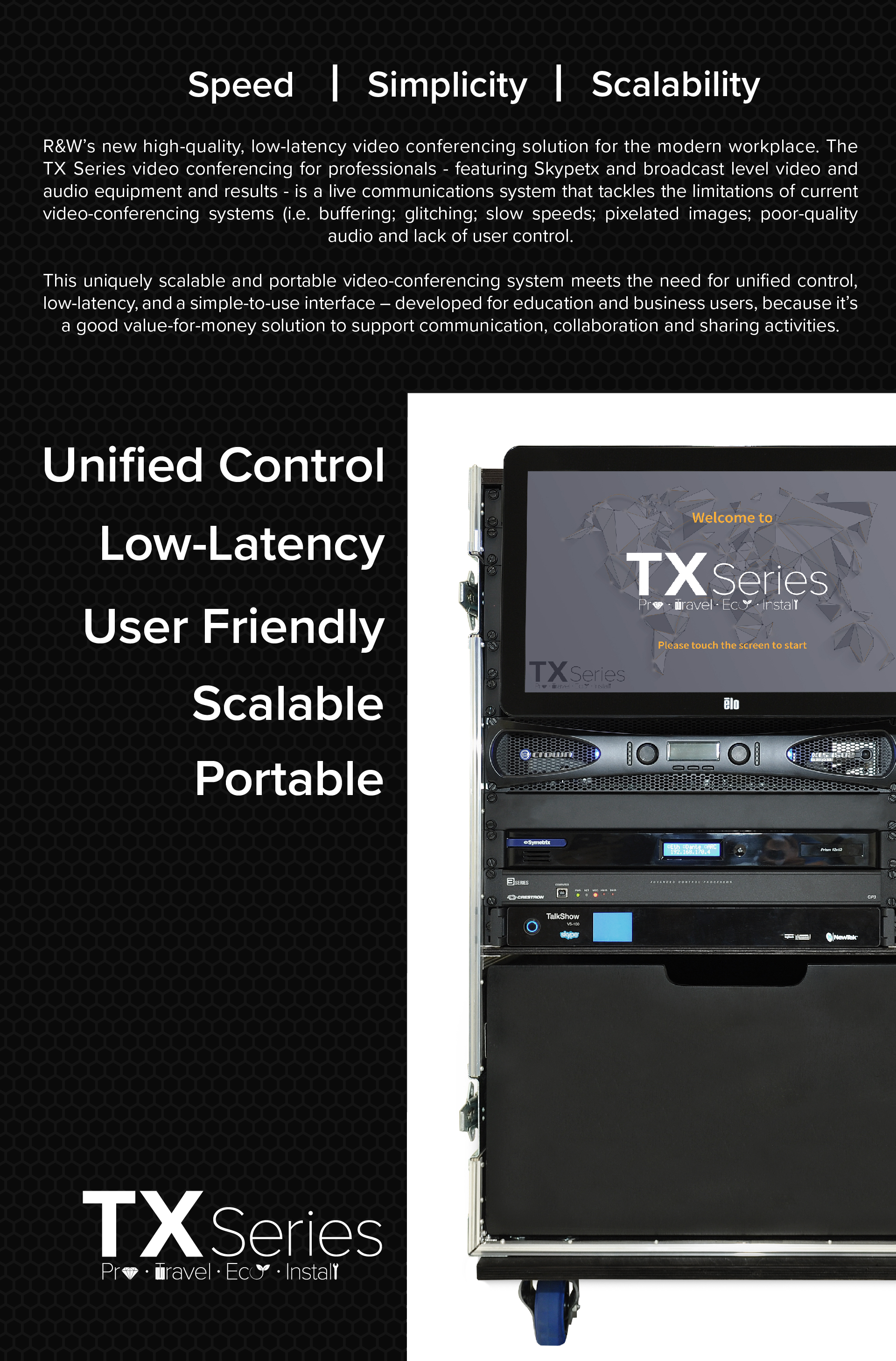 TX Series The new standard for professional video conferencing technology