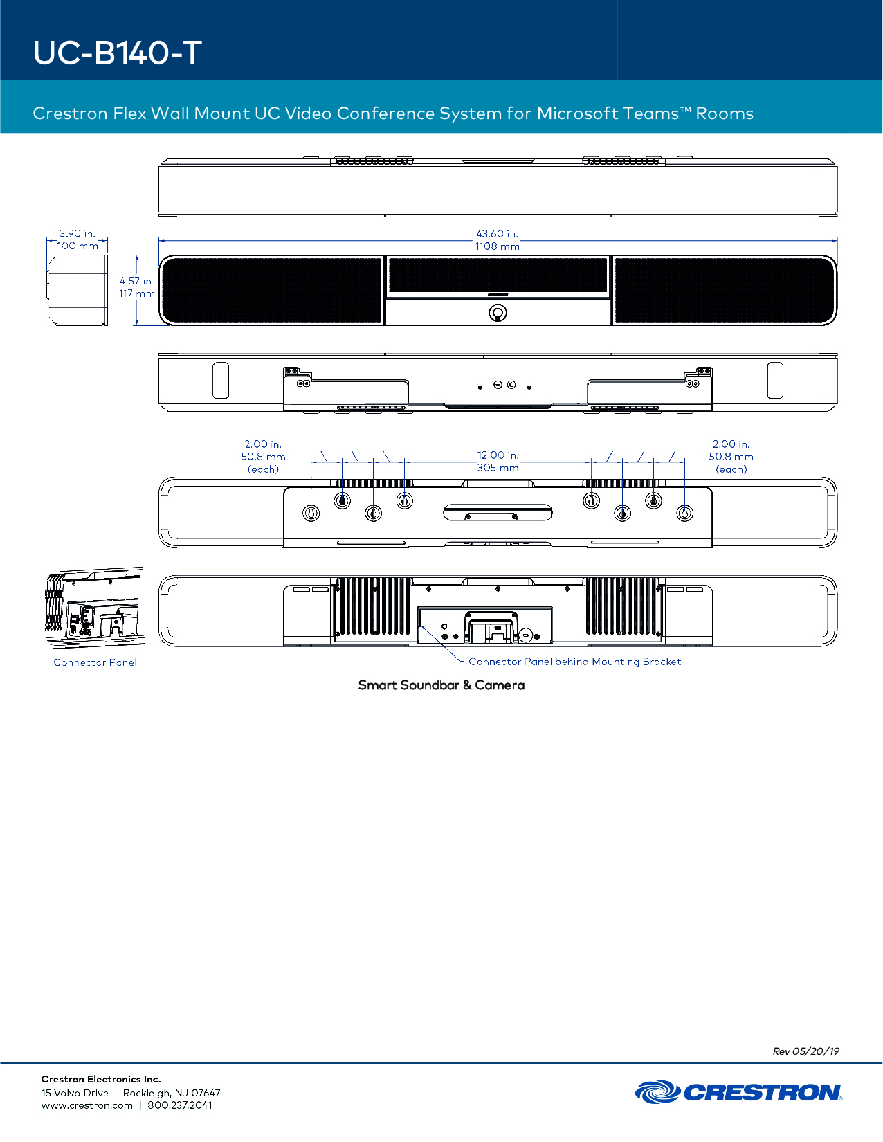 Crestron Flex UC-B140-T