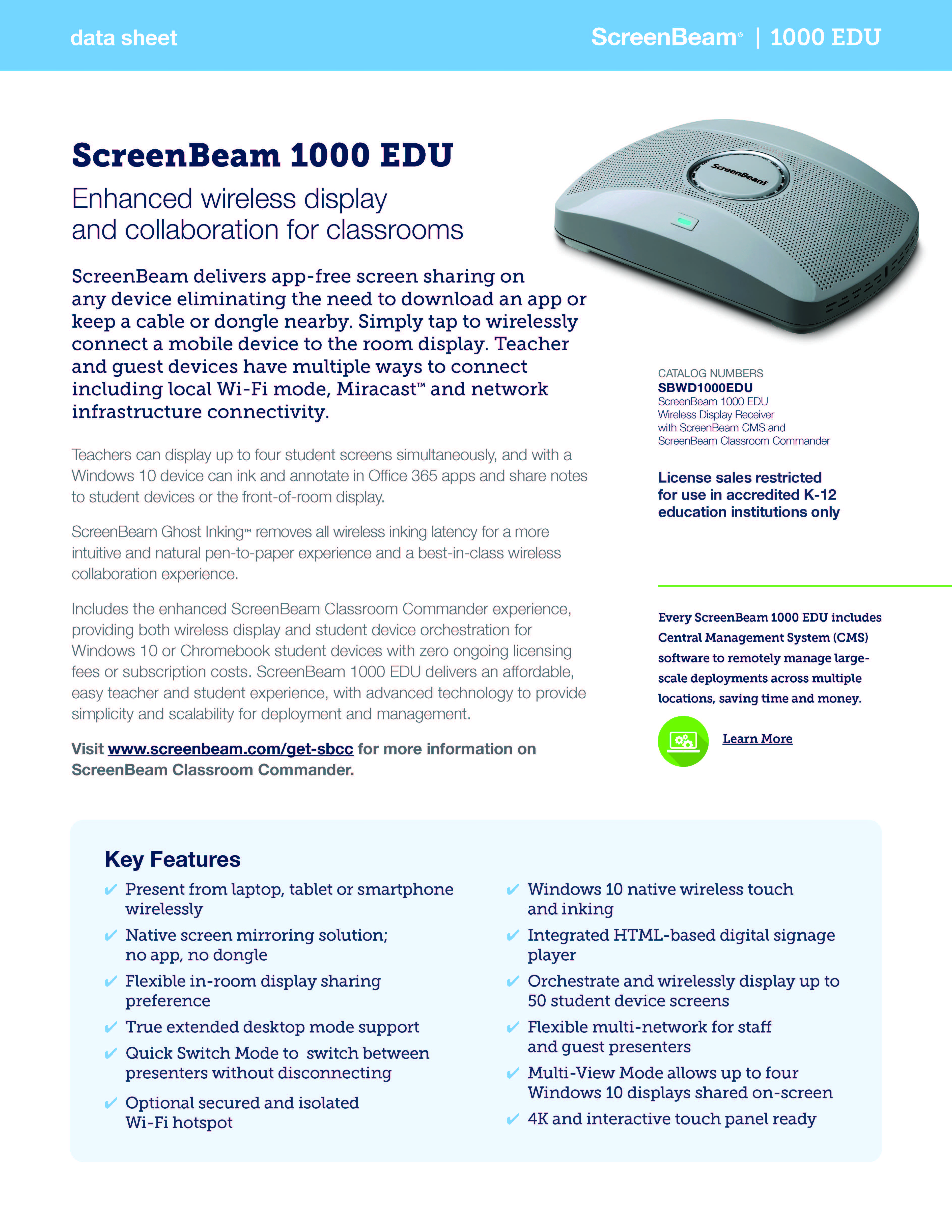 ScreenBeam 1000 EDU
