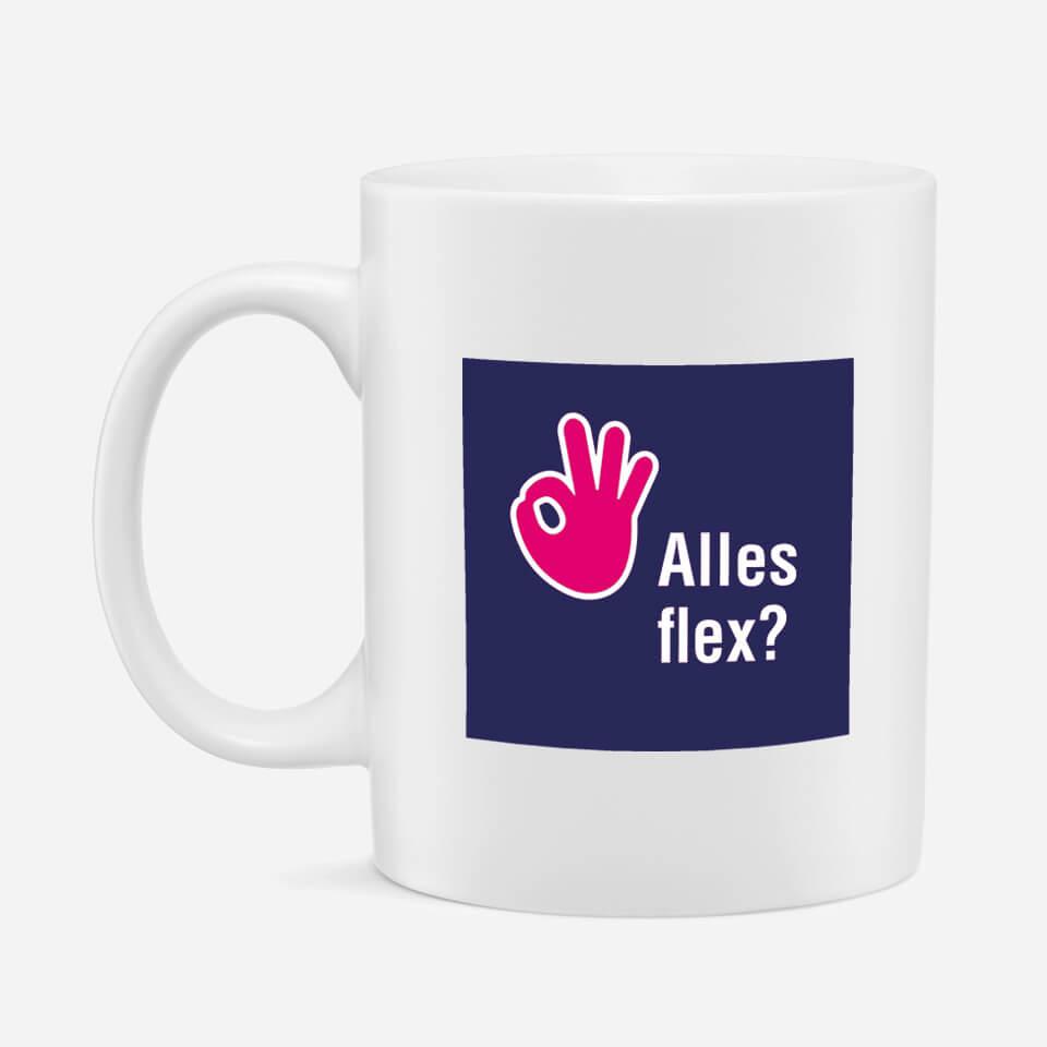 Tas bedrukt met het logo van de alles flex campagne van flexpoint