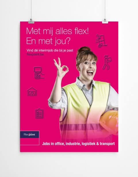 Poster flexpoint campagne alles flex