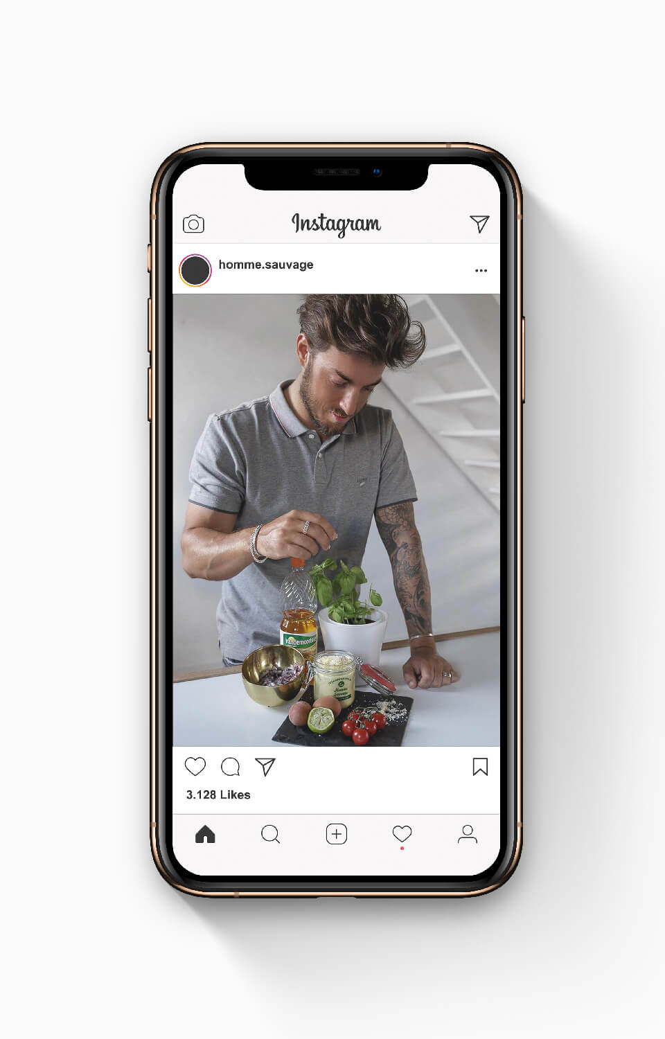 Instagram influencer post voor Vandemoortele