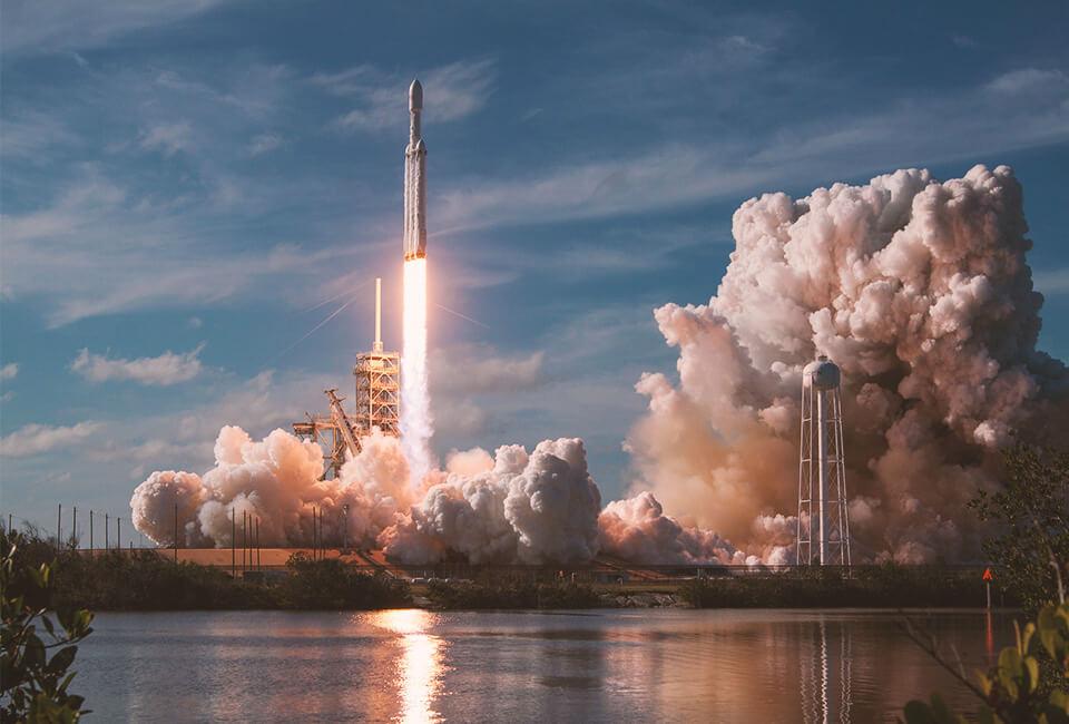 Lancering van een raket