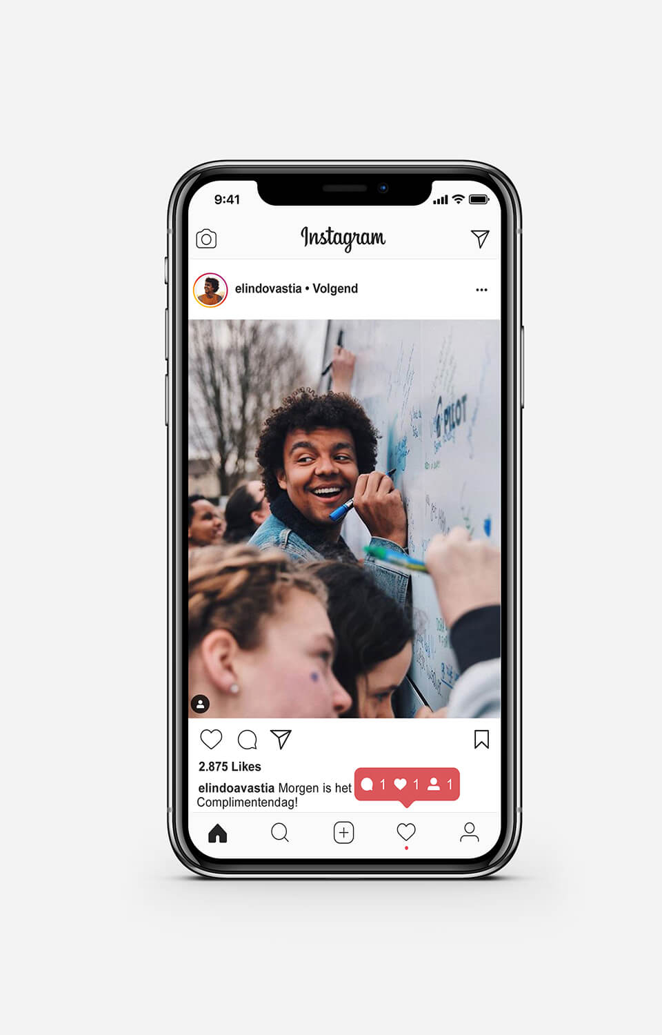 Instagram posts van influencers in de Pilot campagne