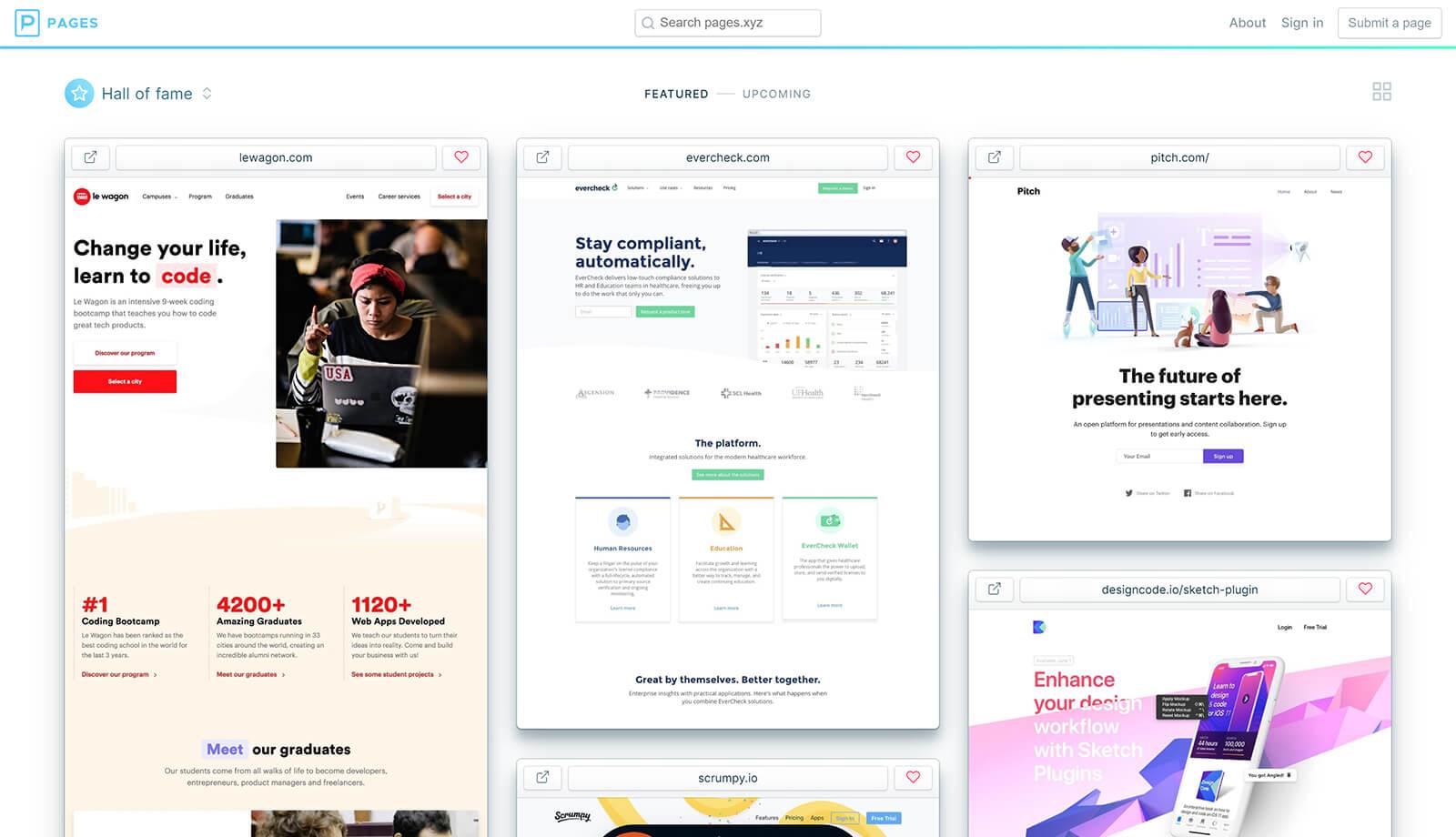 Pages SAAS webdesign inspiratie