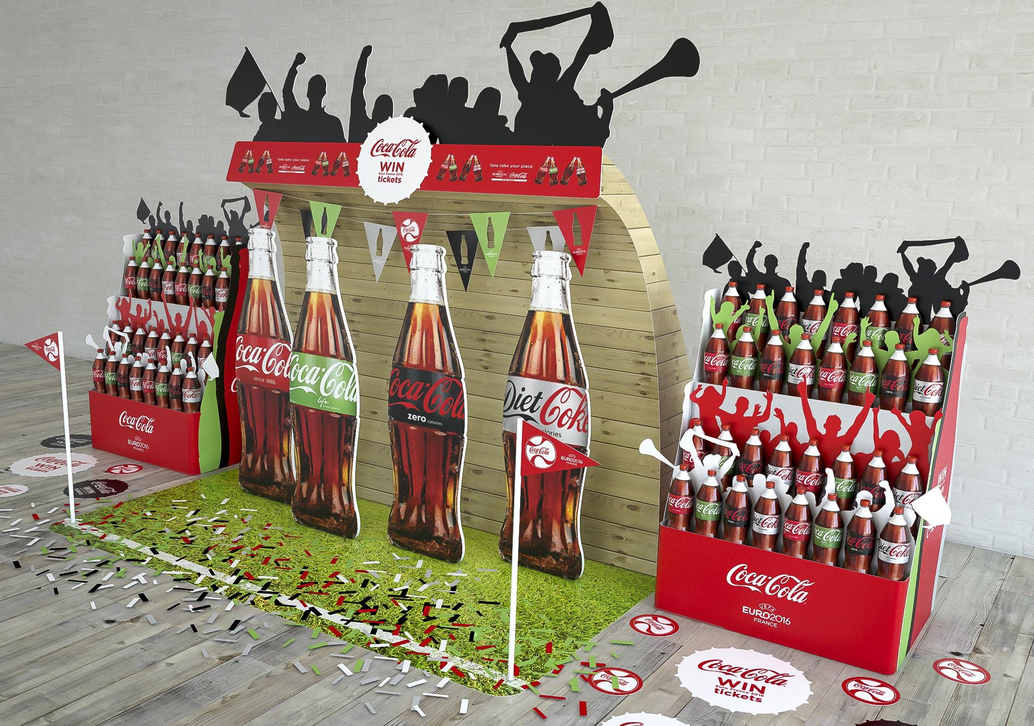 Coca Cola Euro A-Site Display