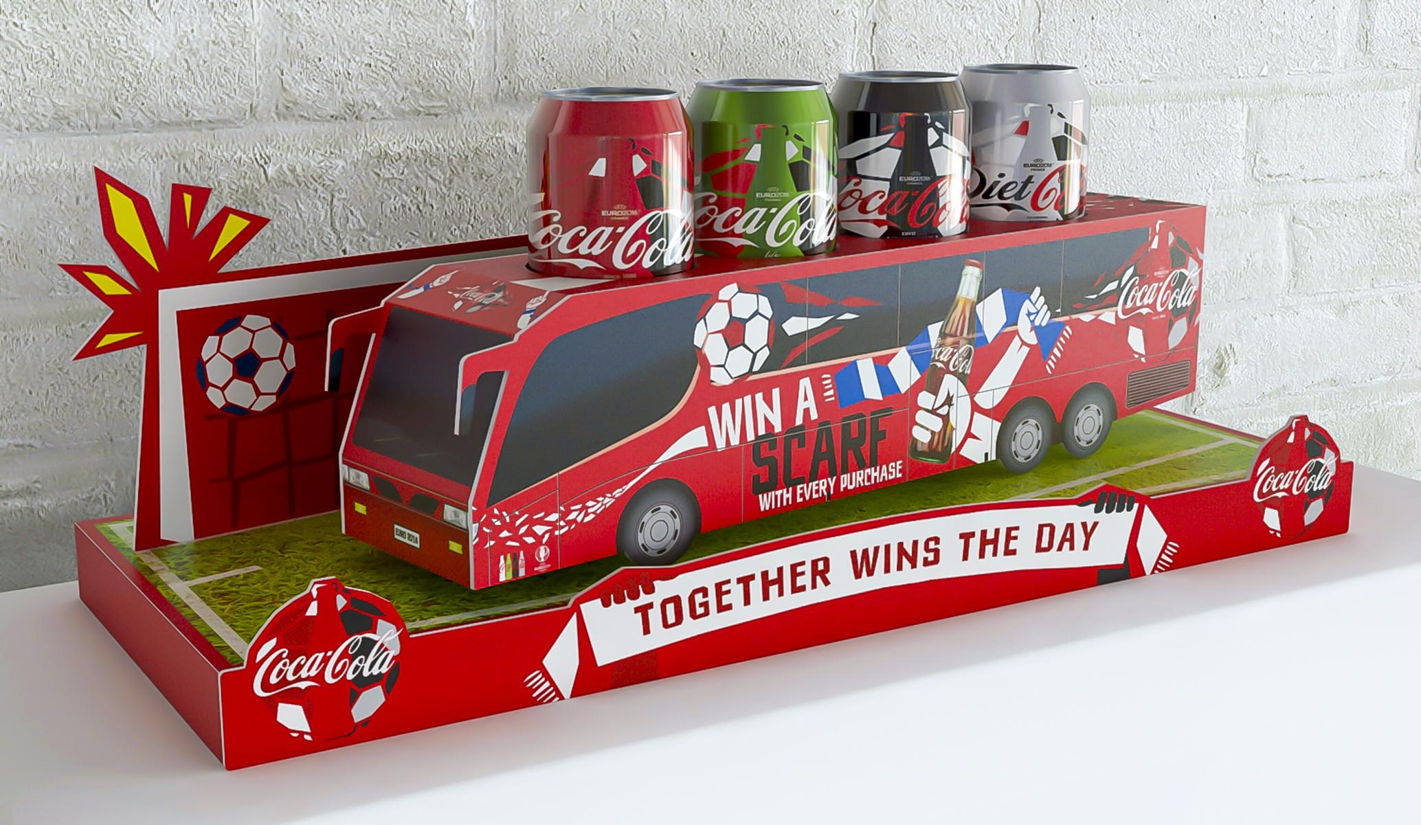 Coca Cola Coach Back Bar Display