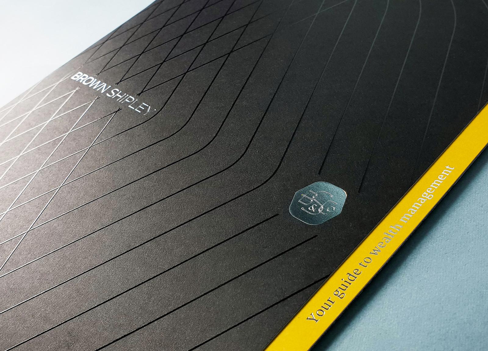 Brown Shipley Brochure UV Detail