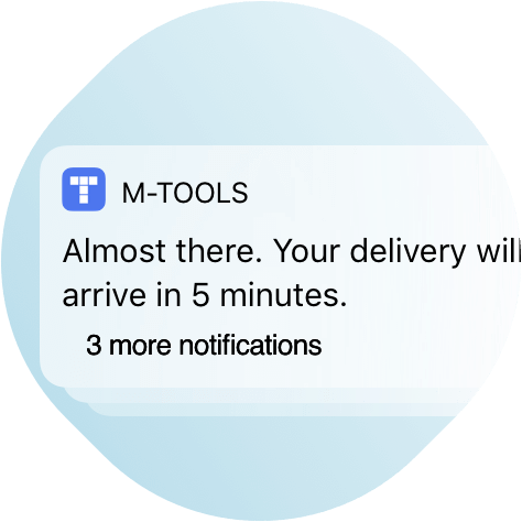 M-TOOLS tracking and live updates