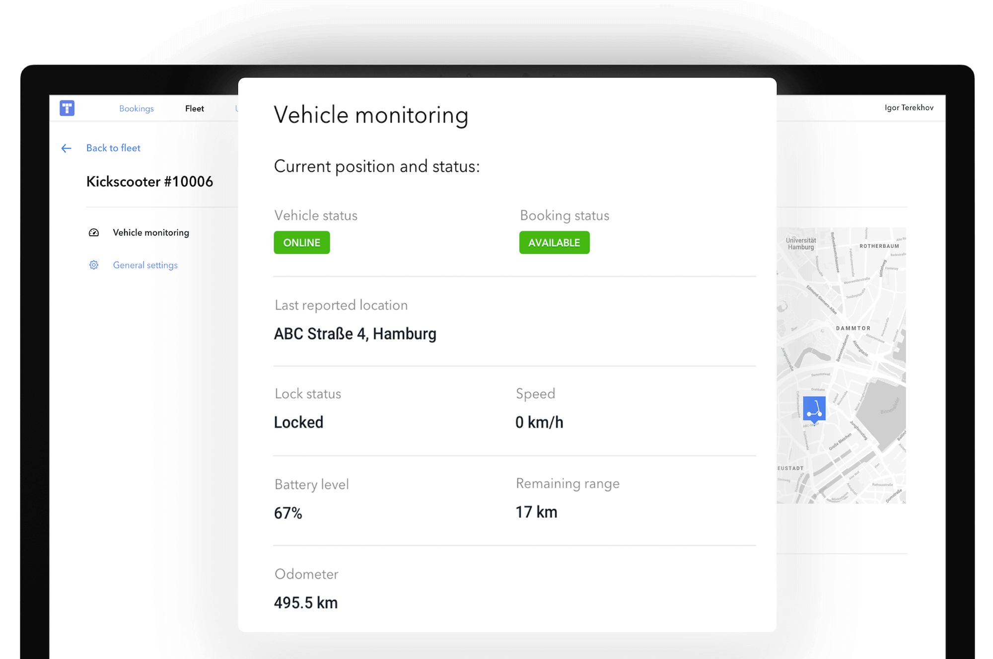 M-TOOLS fleet dashboard for sharing services